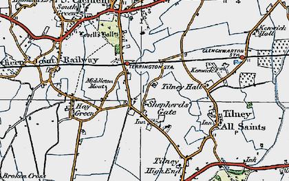 Old map of Balsamfield Ho in 1922