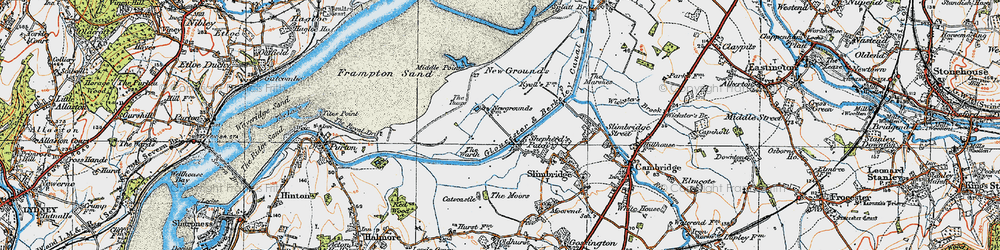 Old map of Wildfowl Trust, The in 1919