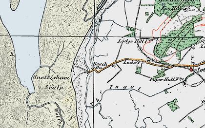 Old map of Wolferton Creek in 1922