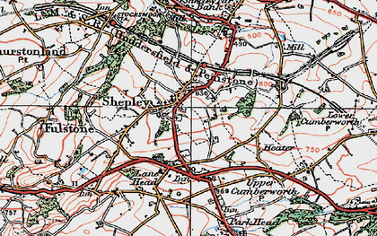 Old map of Shepley in 1924
