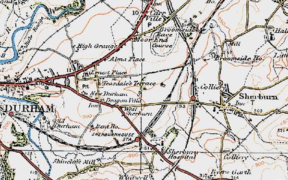 Old map of Whitwell Grange in 1925