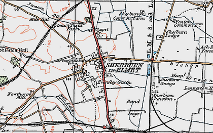 Old map of Sherburn in Elmet in 1924