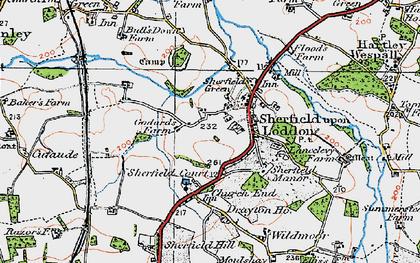 Old map of Sherfield on Loddon in 1919