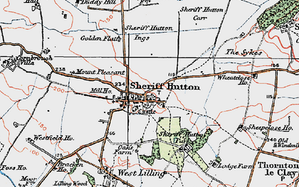 Old map of Sheriff Hutton in 1924