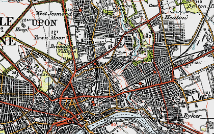 Old map of Shieldfield in 1925