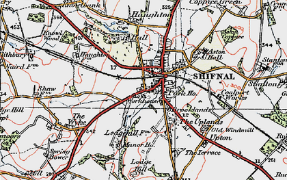 Old map of Shifnal in 1921