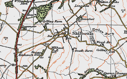 Old map of Shilbottle in 1925
