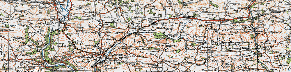 Old map of Whittenhays in 1919
