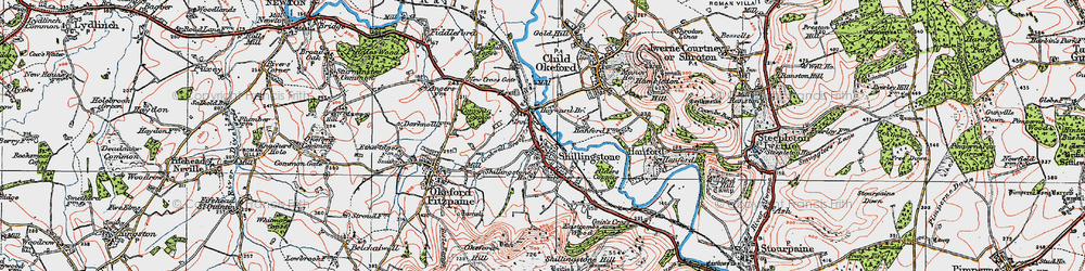 Old map of Alders Coppice in 1919