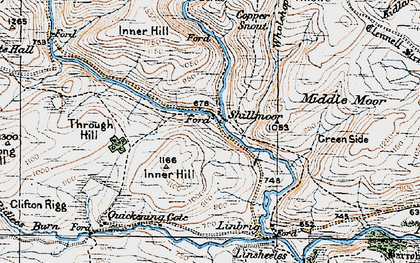 Old map of Wholehope Knowe in 1926