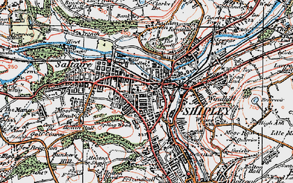 Old map of Shipley in 1925