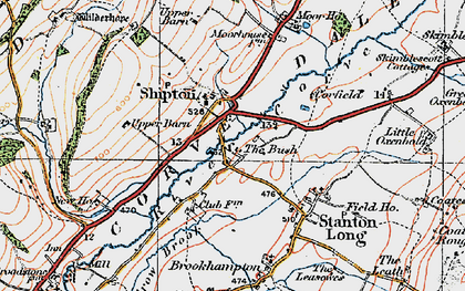 Old map of Shipton in 1921