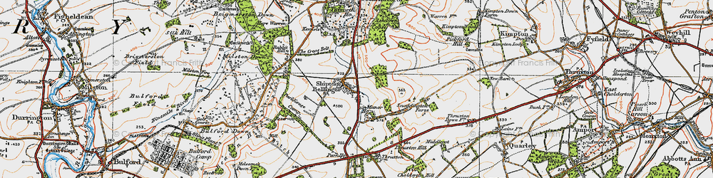 Old map of Althorne in 1919