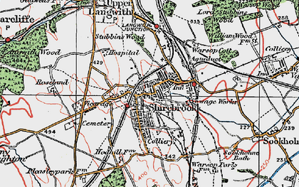 Old map of Shirebrook in 1923