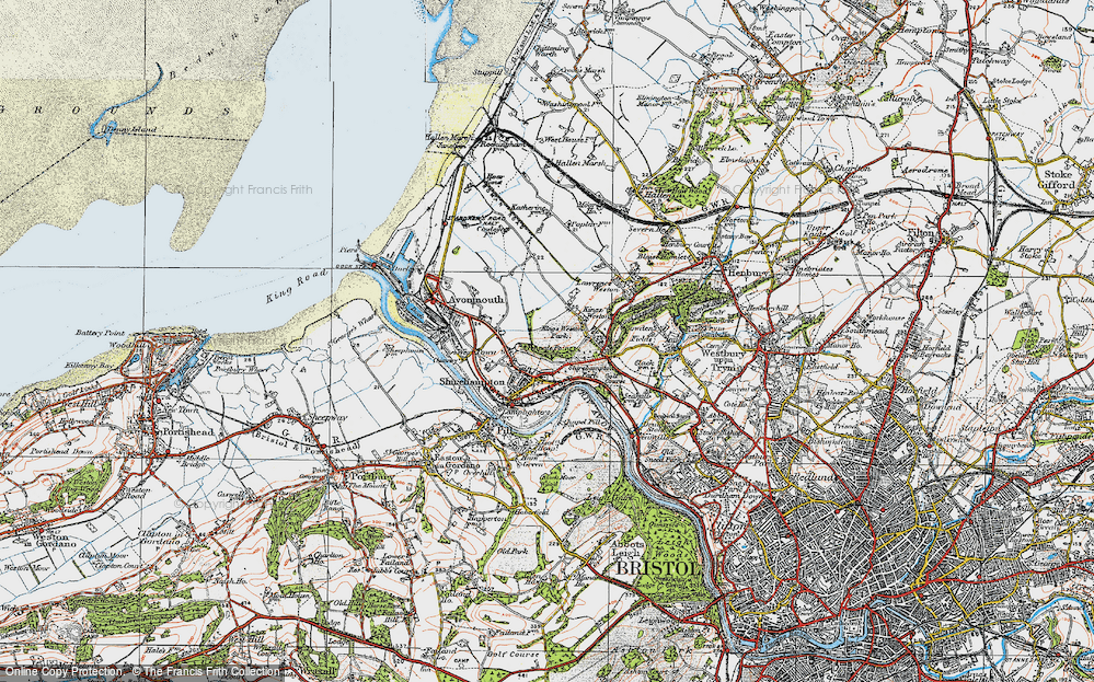 Old Map of Shirehampton, 1919 in 1919