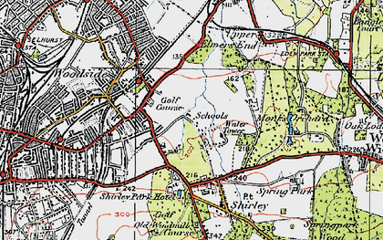 Old map of Shirley in 1920