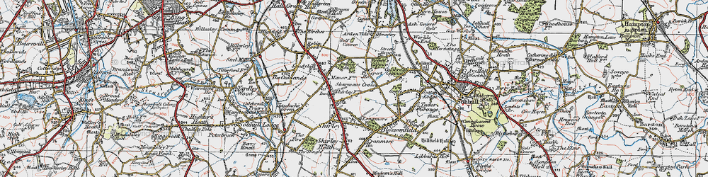 Old map of Shirley in 1921