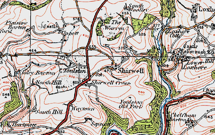 Old map of Youlston in 1919