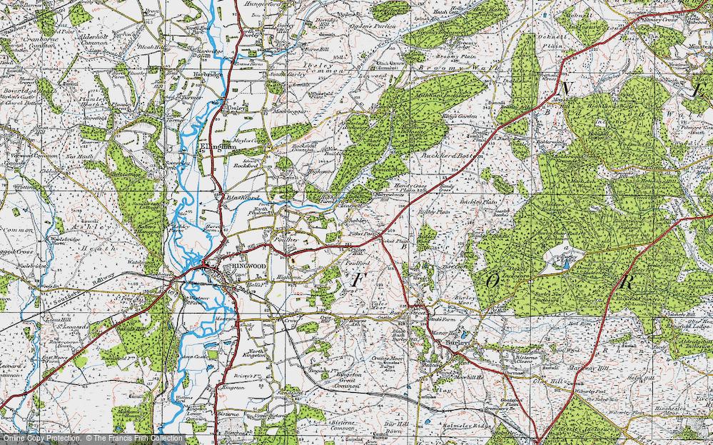 Old Map of Shobley, 1919 in 1919