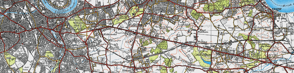 Old map of Shooters Hill in 1920
