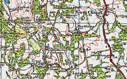 Old map of Abesters in 1920