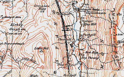 Old map of Wharton Fell in 1925
