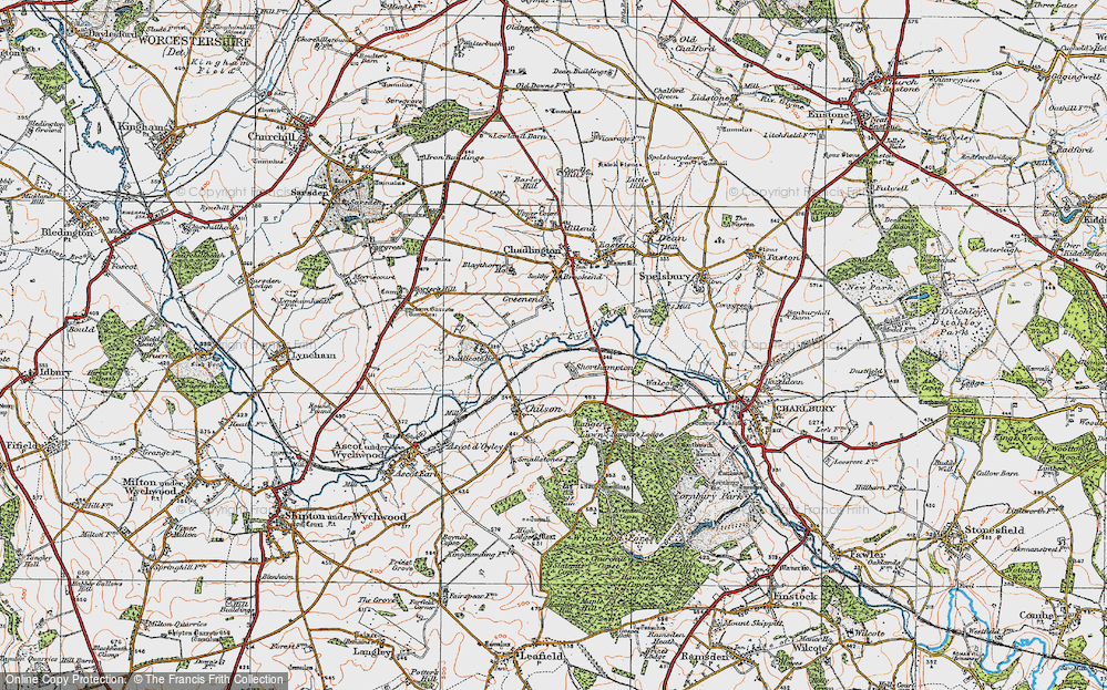Old Map of Shorthampton, 1919 in 1919
