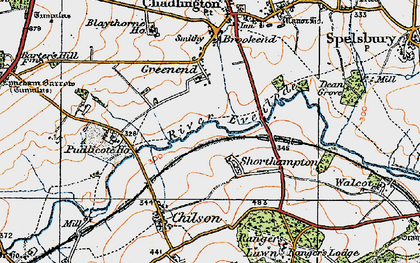 Old map of Shorthampton in 1919