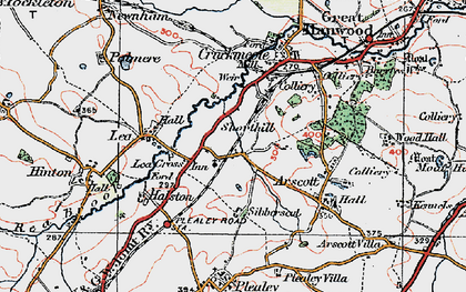 Old map of Lea Cross in 1921