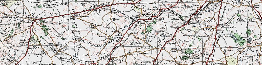 Old map of Lea Cross in 1921