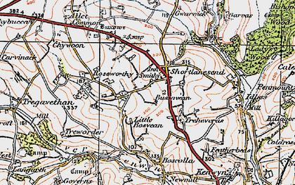 Old map of Shortlanesend in 1919