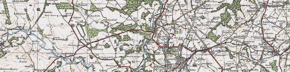 Old map of Shotley Bridge in 1925