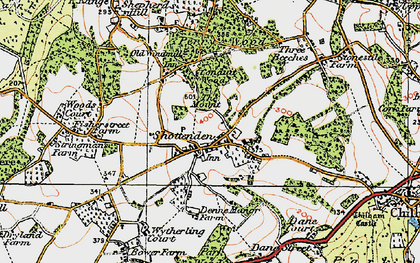 Old map of Woods Court in 1921