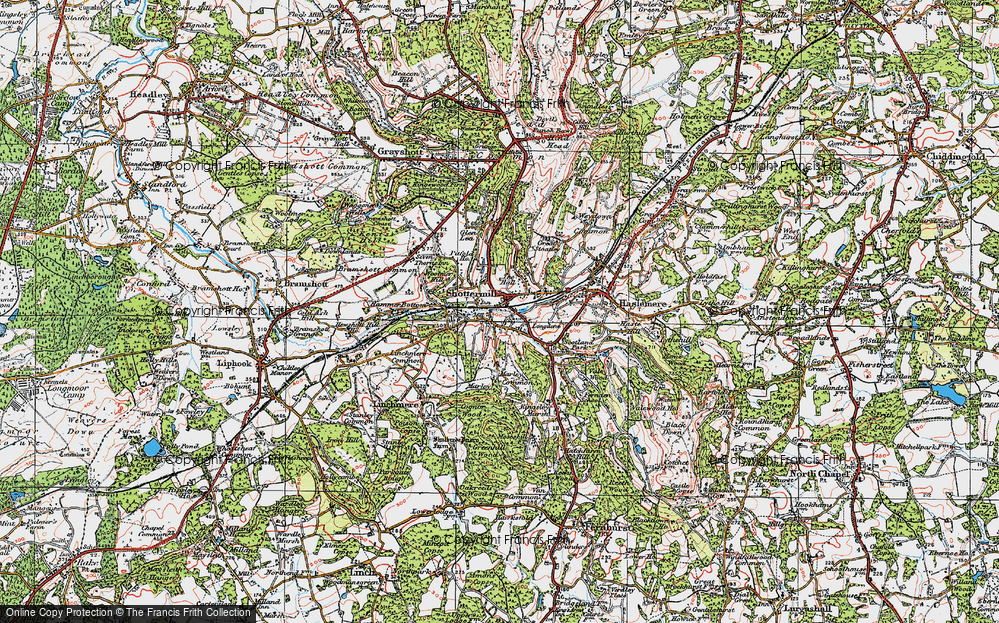 Old Map of Shottermill, 1919 in 1919