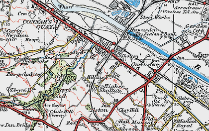 Old map of Shotton in 1924
