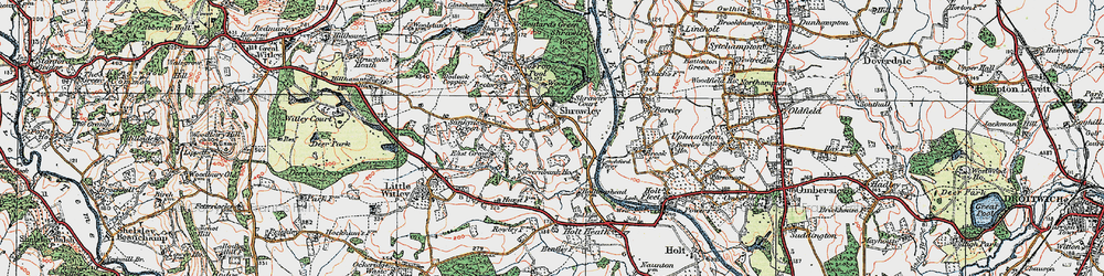 Old map of Shrawley in 1920