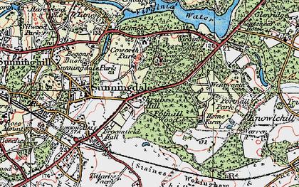 Old map of Wheatsheaf Hotel in 1920