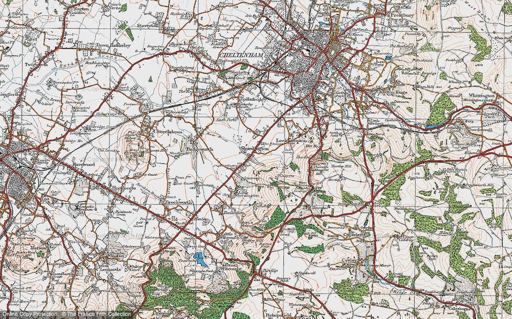 Old Map of Shurdington, 1919 in 1919