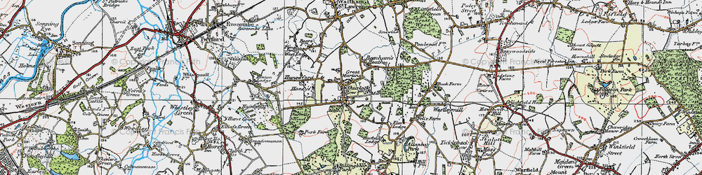 Old map of Allanbay Park in 1919