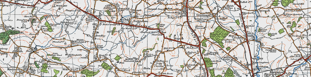Old map of Wheating Hill in 1919