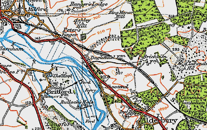 Old map of Ashley Hill in 1919