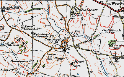 Old map of Alkerton Grounds in 1919
