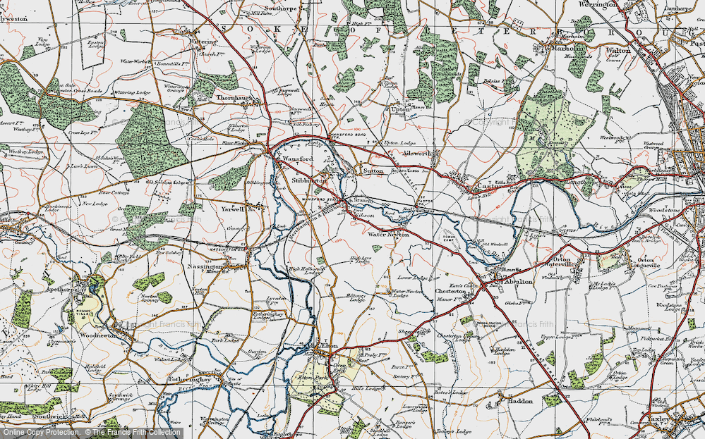 Old Map of Sibson, 1922 in 1922