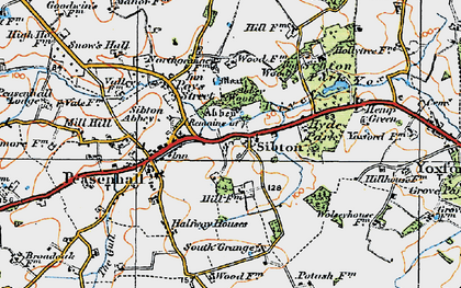 Old map of Sibton in 1921