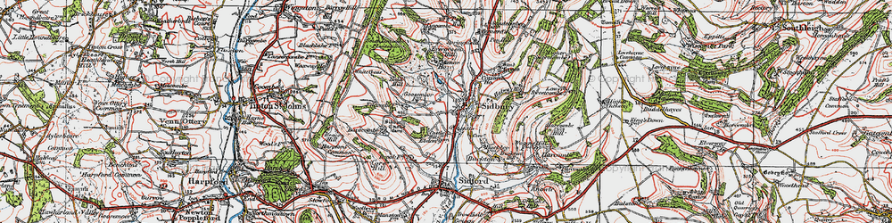 Old map of Sidbury in 1919