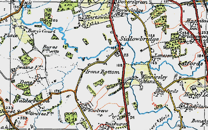 Old map of Sidlow in 1920