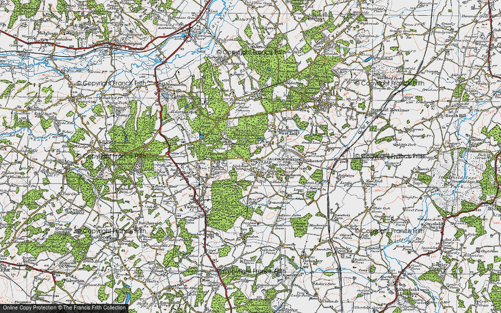 Old Map of Silchester, 1919 in 1919