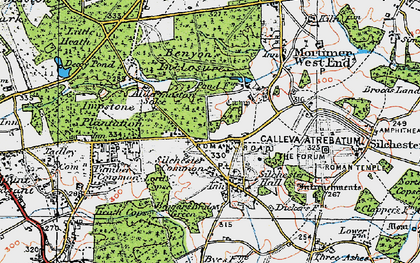 Old map of Silchester in 1919