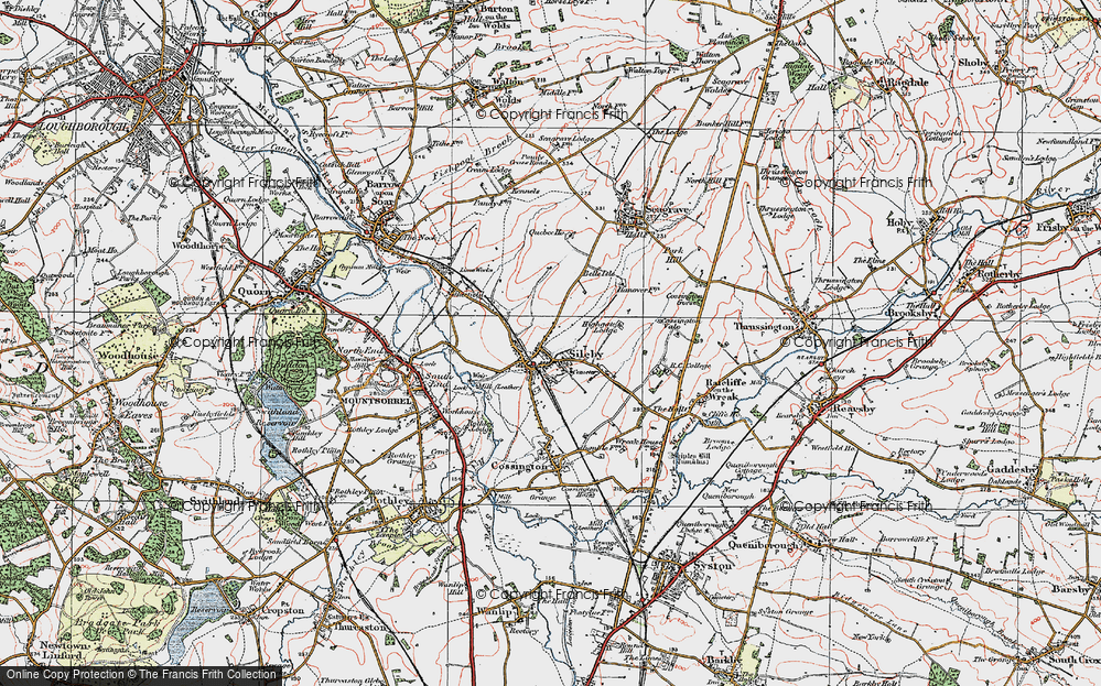 Old Map of Historic Map covering Leicestshire Round, The in 1921