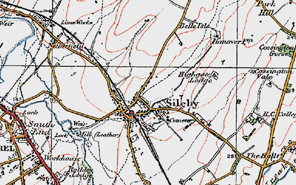 Old map of Sileby in 1921